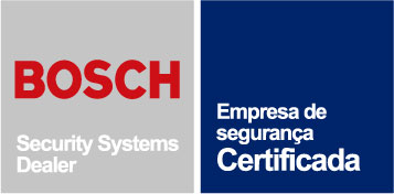 Empresa Certificada pela BOSCH Security Systems.